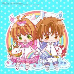 Sakura Card Captor, Cardcaptor Sakura, Syaoran, People Illustration, Illustration Art, Clear Card, Magic Cards, Japanese Outfits, Kawaii Anime