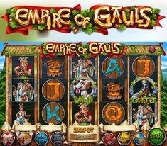 """Slot-machine - """"Empire of Gauls"""" on Behance Надо играть казино #автоматы"""
