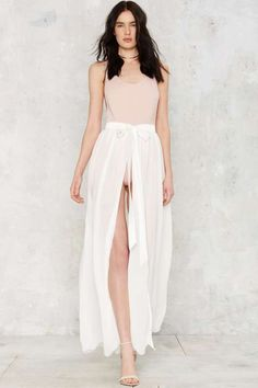 Jump Maxi Sheer Skirt - White - Summer Whites