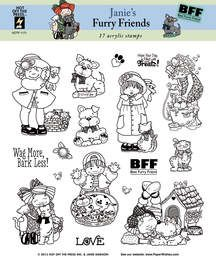 Janie's Furry Friends Stamp Set by Hot Off The Press Inc (4101173)
