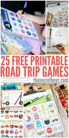 I'm so glad that I found these free printable road trip games! We have a LO… I'm so glad that I found these free printable road trip games! We have a LONG road trip coming up and these will be perfect for entertaining the kids. I love the travel bingo! Kids Travel Activities, Road Trip Activities, Road Trip Games, Car Activities For Toddlers, Kids Car Games, Airplane Games For Kids, Car Ride Games, Road Trip Crafts, Road Trip Bingo