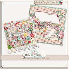 Got Nothing But Love quick page freebie from Jady Day Studio #scrapbook #digiscrap #scrapbooking #digifree #scrap
