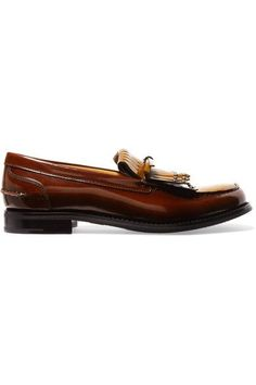 Church's - Rachel Studded Polished Leather Loafers - Tan - IT37.5
