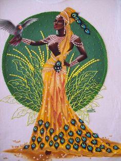 Oshun Goddess, Goddess Art, Black Girl Art, Black Women Art, Spiritual Tattoo, Afrique Art, African Goddess, Arte Tribal, Black Art Pictures