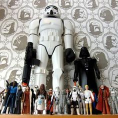 Oh!! //  IMPERIAL FORCES WALLPAPER....one day, when Eli has a Star Wars room. This. Wallpaper.