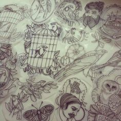 Anna Enola, love her drawings and tattoos