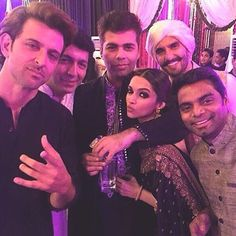 "zoomtv: ""Bollywood @ 13 megapixel - Hrithik Roshan Kunal Kohli Deepika Padukone Ranveer Singh and Karan Johar.  #HrithikRoshan #KunalKohli #KaranJohar #DeepikaPadukone #RanveerSingh #instapic #Bollywood #zoomtv #turnonzoom #tagsforlikes #tags4likes"""