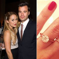 Lauren Conrad announced her engagement to William Tell in October 2013 when she shared a photo of her ring . Lauren Conrad Engagement Ring, Lauren Conrad Ring, Lauren Conrad Style, Celebrity Wedding Rings, Celebrity Jewelry, Wedding Rings For Women, Celebrity Weddings, Celebrity News, Wedding Bands