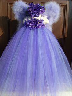 Custom Tutus...ENCHANTED NIGHT ...Boutique Style Halter Tutu, Headband and set of, Wings in Bloom... fairy princess...birthdays...photos. $125.00, via Etsy.