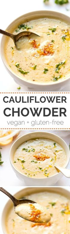 Super easy, 30 MINUTE cauliflower chowder made with roasted garlic, cashews and a secret, protein-packed ingredient! Ingredients ½ cup raw cashews, soaked for at least 2 hours 1 head cauliflower 1 small potato 1 garlic bulb 2 tablespoons oil ½ cup Sabra Roasted Garlic Hummus ½ cup cooked quinoa 2 cups vegetable broth 2 cups water (+ more as needed) 2 teaspoons miso paste 2 teaspoons nutritional yeast (optional) Salt + pepper to taste Additional garlic if desired