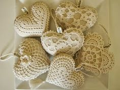 Crochet Heart – scheme of decoration