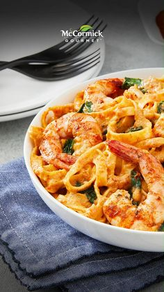 Shrimp Recipes For Dinner, Seafood Dinner, Easy Pasta Recipes, Fish Recipes, Seafood Recipes, Cooking Recipes, Healthy Recipes, Vegetarian Recipes, Shrimp Pasta Recipes