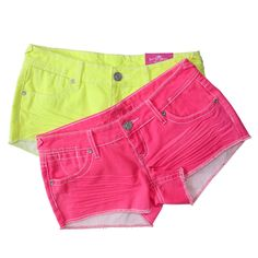 Great clothes for teens! wanna look awesomely hype for the summer with neon pants? Cute Teen Outfits, Short Outfits, Outfits For Teens, Pretty Outfits, Cool Outfits, Neon Pants, Neon Shorts, Cute Shorts, Almost Famous Clothing