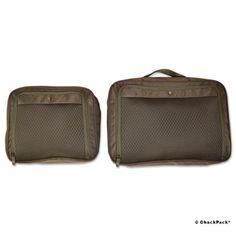Nie wieder Chaos im Koffer, Unterwäsche, Socken Victorinox Set aus 2 Packing Cubes, schwarz | ChackPack.com