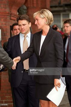 Diana, Princess Of Wales At The Royal Geographical Society In London Where She Made A Speech In Connection With Her Support Of The Campaign Against Land Mines.
