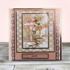Card created using Hunkydory Crafts' Rose Gold Moments - Leave a Little Sparkle Topper Set