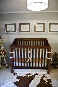 "The beautiful Caribbean Rosewood crib was handmade by Rhett's paternal grandfather. ""My favorite thing is his crib,"" mom Emily said. ""It is so special to have a wonderful family heirloom to keep for generations."""