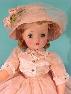 Cissy's dress matches her peaches & cream complexion, #2230 of 1958.