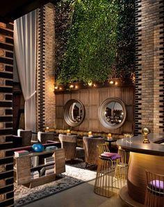 cafe dekorasyon, luxury design, modern seat design, wood decor, mirror, brown decor, tile, industrial, cafe dekor, restaurant design, interior design