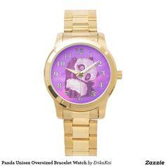 Panda Unisex Oversized Bracelet Watch. Color: black, gold, silver or two-ton
