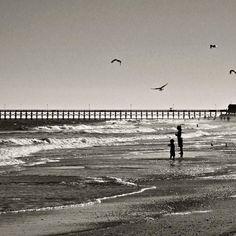 The calm. #blackandwhite #canon #2007 #beach #sea #usa #southcarolina #sand