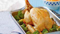 Rainbow Gospel Radio | Lemon and garlic roast chicken with charred broccoli and sweet potato mash