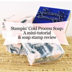 Tutorial: Stamping Soap with a Custom Soap Stamp from LaserCutz - Modern…