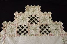 Hardanger Embroidery Doily Centerpiece Pink от ThisAndThat4UAndMe