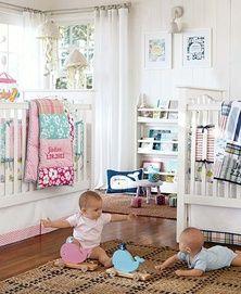 shared nursery 5 pottery barn kids boy girl twins turtles | twice