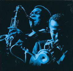 John Coltrane and Miles Davis by Chuck Stewart
