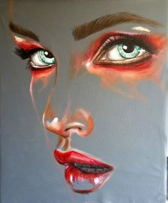 Buy the artwork 'Skin' by Nush Menna securely online. Original Paintings For Sale, Painting For Sale, Arte Pop, Pastel Art, Portrait Art, Abstract Portrait Painting, Portraits, Portrait Paintings, Female Art