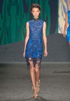 lace over colour. New York Spring 2013 Trend Report - Runway Spring Fashion Trends 2013 - Harper's BAZAAR