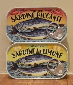 Sardine Tins from Waitrose. I wonder if Pippa  eats these?!?!