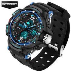 0e137959cea relógios quartzo top marca de luxo digital Relogio Masculino Esportivo