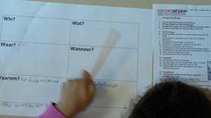 Marcel Schmeier @Onderwijsgek Gedurende de les ontstaat een overzicht van vragen. De antwoorden worden onderstreept in de tekst. @nieuwsbegrip
