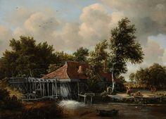 Mulino ad acqua, Hobbema Meyndert, 1665-'68 ca.