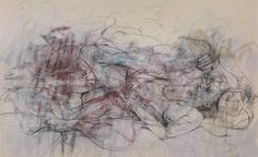 Ebb and Flow, 2015: oil stain, pastel and charcoal on canvas.