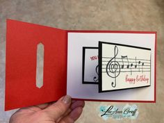 I had to use my friend Dawn Olchefske's new stamp set for January club. It's the set she designed for her million dollars in sales achievement! It's a fabulous music themed set called Music From… Fun Fold Cards, Folded Cards, Musical Cards, Masculine Birthday Cards, Masculine Cards, Heart Cards, Card Tutorials, Card Sketches, Valentine Day Cards