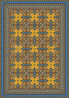 Illustration of Design for variegated carpet with brown and yellow tones vector art, clipart and stock vectors.