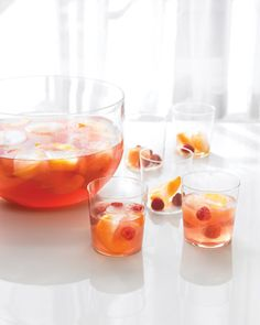 Rose punch - Concocted from sparkling lemonade, Chambord, raspberries, pineapple, and, of course, rose wine. The best part is, you can make it ahead and chill, then set it out for shower guests to enjoy.