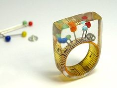 Geschmeide Unter Teck / Papermetal - The Carrotbox Jewelry Blog - rings, rings, rings!