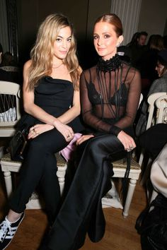 Fashion month parties continue in London with the best A-listers. Chelsea Leyland and Millie Mackintosh at Giles