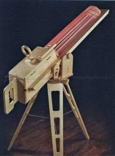 #1604 Rapid-Fire Rubber Band Gun - Wooden Toy Plans