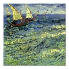 Vincent van Gogh Online, Boats at Sea, Saintes-Maries-de-la-Mer, Oil Paintings Only For Art Lovers! This is a non-profits site and shows all the paintings ...