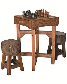 GROOVYSTUFF TF-0538-S Hill Country Chess Table >>> Be sure to check out this awesome product.