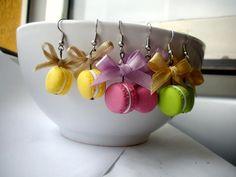 macaroons. polymer clay earrings