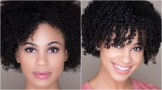 How To Shingle Natural Hair for Definition on 4a/3c Hair