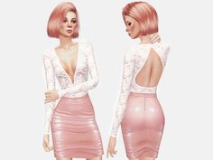 The Sims Resource: Lace Bodysuit by itsleeloo • Sims 4 Downloads