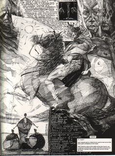 The four horsemen of the Apocalypse, as rendered by Dave McKean, from his and Neil Gaiman's Tarkovsky-inspired Signal to Noise. I've been hearing lately that it should be 'Conquest' rather than...