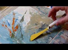 How to paint with palette knife,creating a texture with acrylic, Part 1, Svetlana Kanyo - YouTube